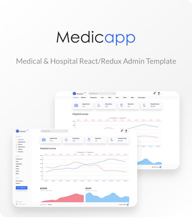 MedicApp - Medical & Hospital React/Redux admin template - 1